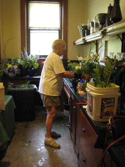 Dianne in the flower arranging room