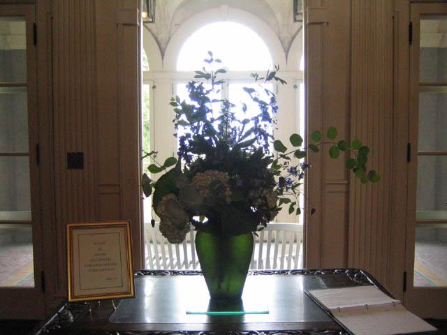 Dianne's front hall arrangement