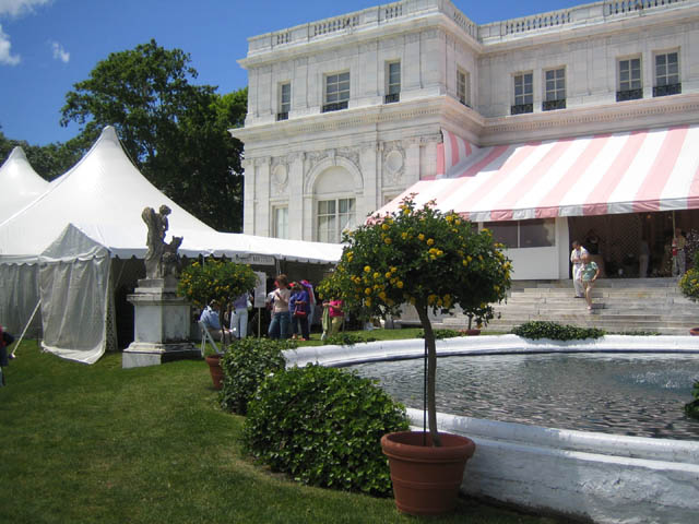 The lecture tent at the Newport Flower Show held at Rosecliff in Newport, RI