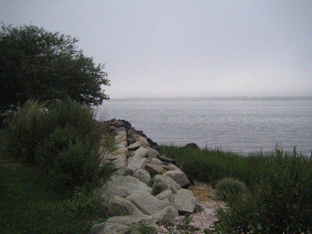 foggy Narragansett Bay