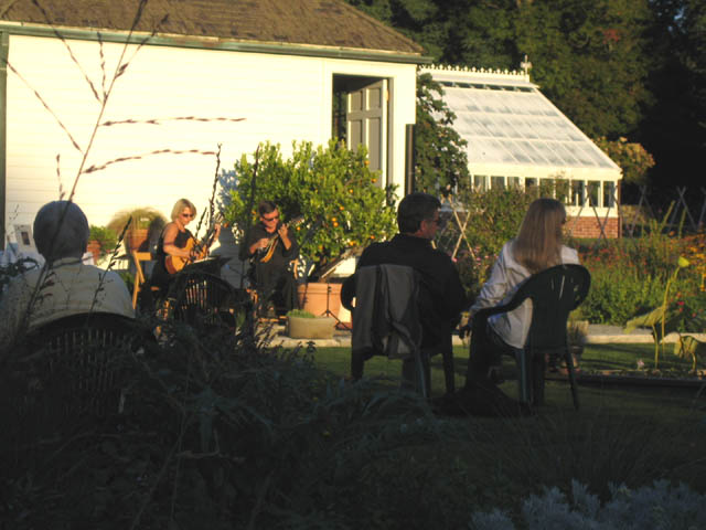 Mark and Beverly Davis Guitar Duo playing at the Display Garden Soiree