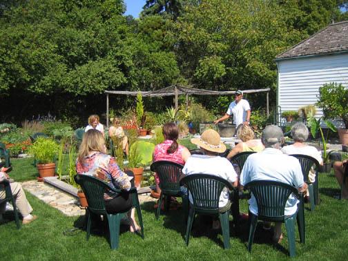 Barney Webster from Nelumbo Water Gardens at Fall Gardener's Day