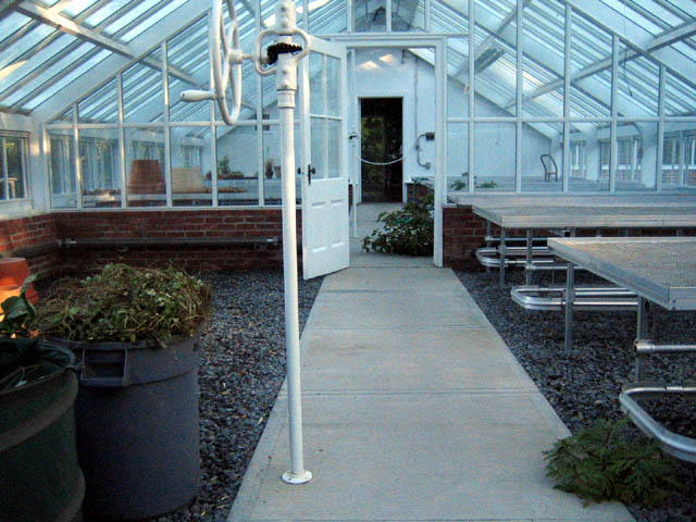 A clean greenhouse - ready for moving day!