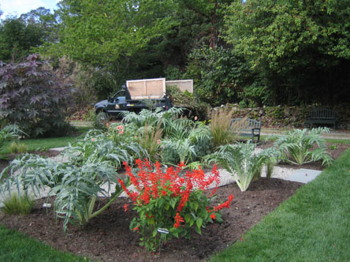 The Ellipse Garden -after and ready for a new start-