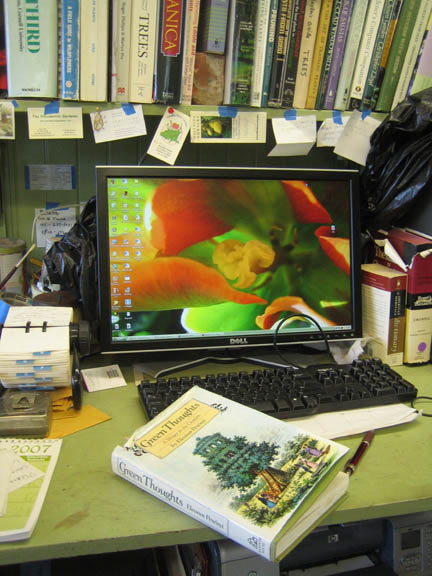 'Green Thoughts' and the potting shed desk