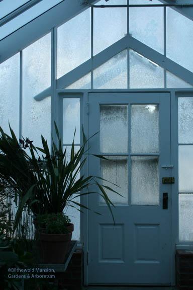 ice darkened greenhouse