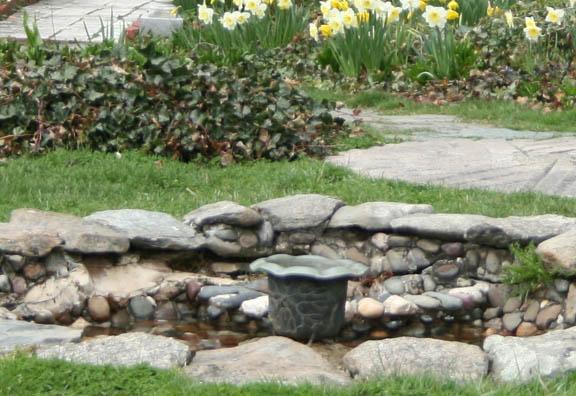 Stolen lotus fountain