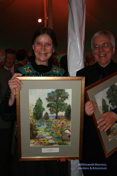 Marjorie Shaw Jeffries - winner of the Marjorie Van Wickle Lyon award standing with Robert Mrozowski, winner of the Victor Piccoli Project Award