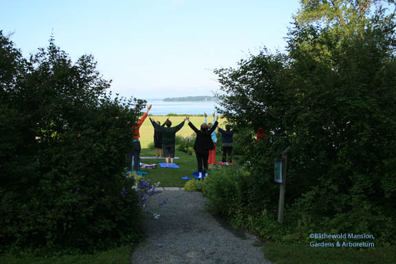Yoga in the North Garden - taught by Christine Reed