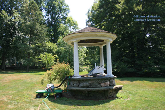 Making use of the old well on the front lawn