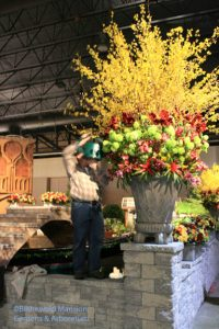 a daunting task at the Philly flower show