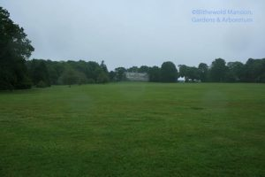 looking up the Great Lawn to the mansion