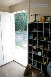 Open door and the volunteers' cubbies