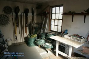 tool shed tidiness and uncluttered flat surfaces