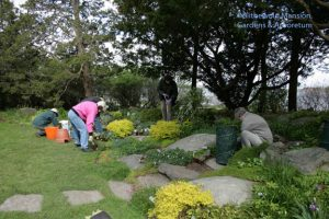 Rockettes planting the Rock Garden, 4-28-10