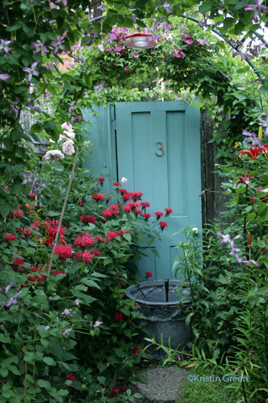an illusion of space in an Allentown garden