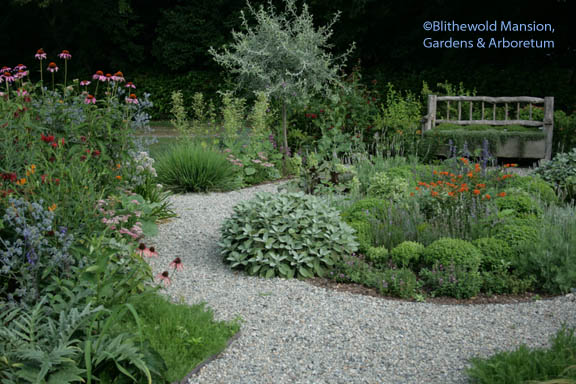 the herb garden in perfect scale with itself