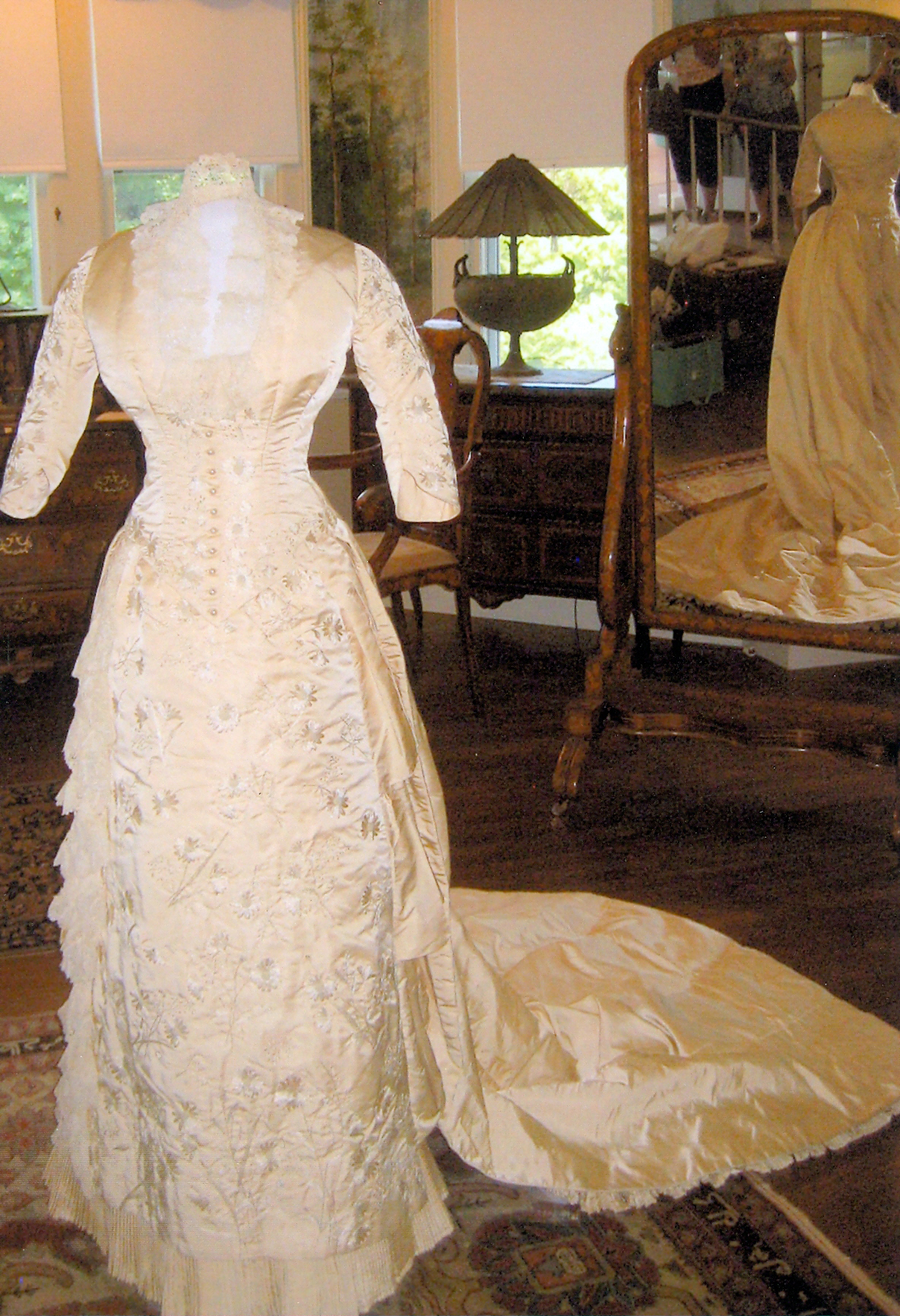 Bessie Van Wickle's Wedding Gown 1882