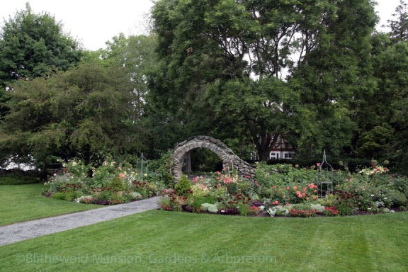The Rose Garden and moon gate, 7-10-15