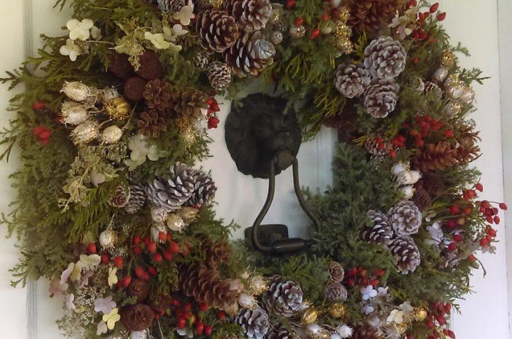 Blithewold Front Door Wreath