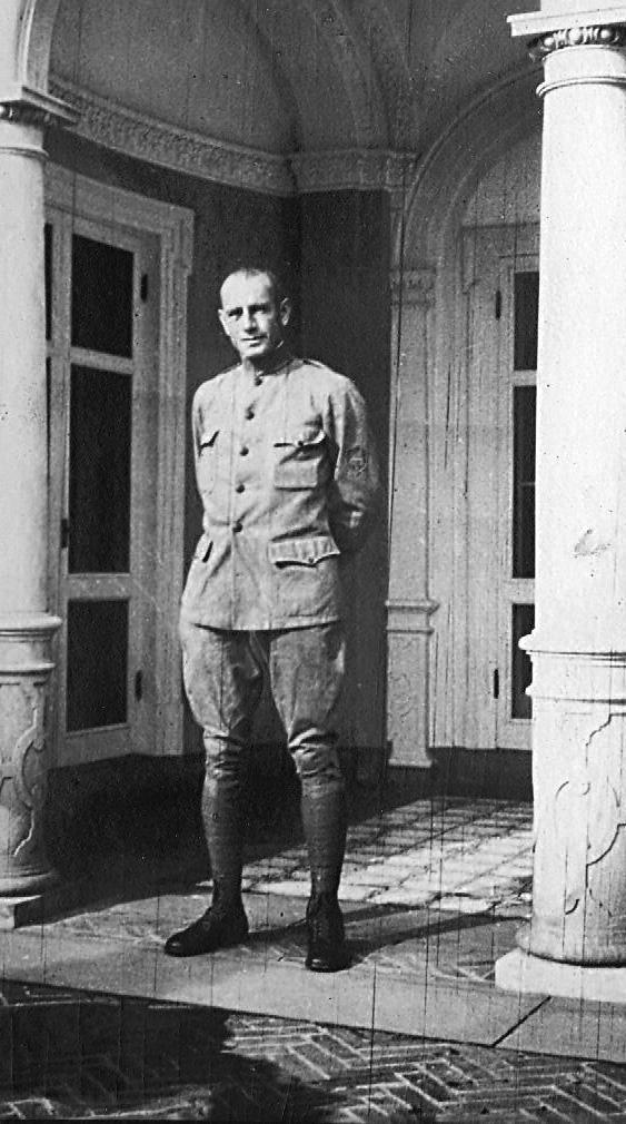 George Lyon in uniform, Blithewold 1917